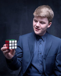 Adam Black with rubicks cube