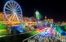 Edinburgh's East Princes Street Garden at Christmas