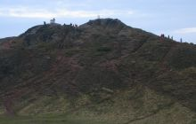 Arthur's seat peak in Winter