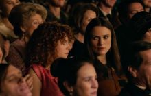 Sally (Keira Knightley) and Jo (Jessie Buckley) watch the Miss World contest in disgust.