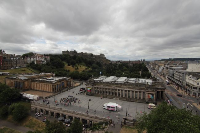 Edinburgh Castle from the Big Wheel