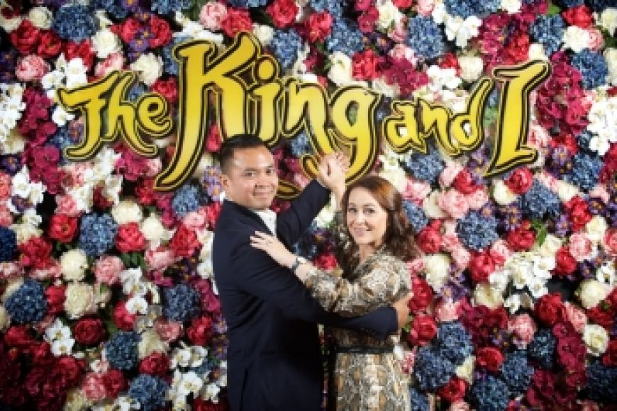 Jose Llana and Annalene Beechey at the King and I launch - credit Rob McDougall.