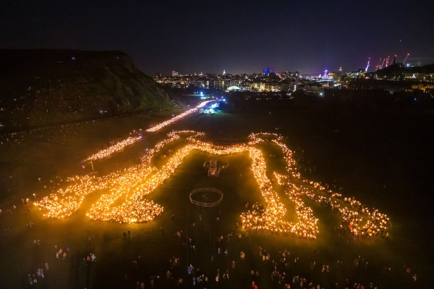 Be Together symbol, Torchlight Procession as part of Edinburgh's Hogmanay