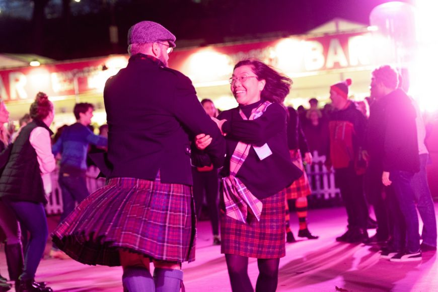 Ceilidh Under the Castle at Hogmanay