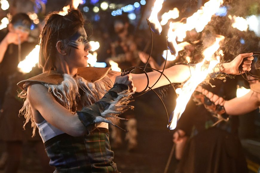 Pyro Celtica at Edinburgh's Hogmanay