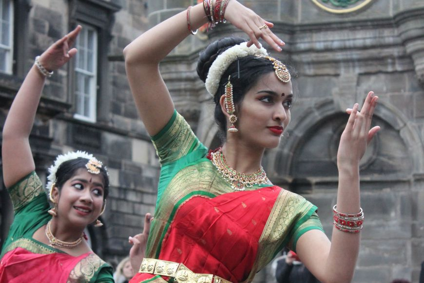 Dancers at Edinburgh Diwali