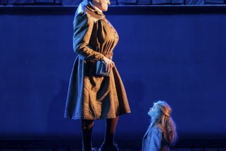 Elliot Harper as Miss Trunchill in RSC's Maltida the Musical