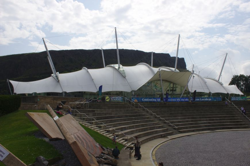 Dynamic Earth - front of the building