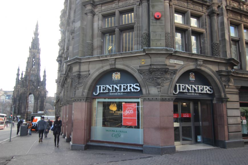 Jenners entrance on St Andrew Square