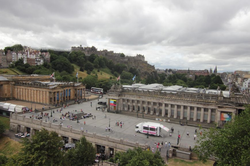 Mound Precinct & Edinburgh Castle from the Big Wheel