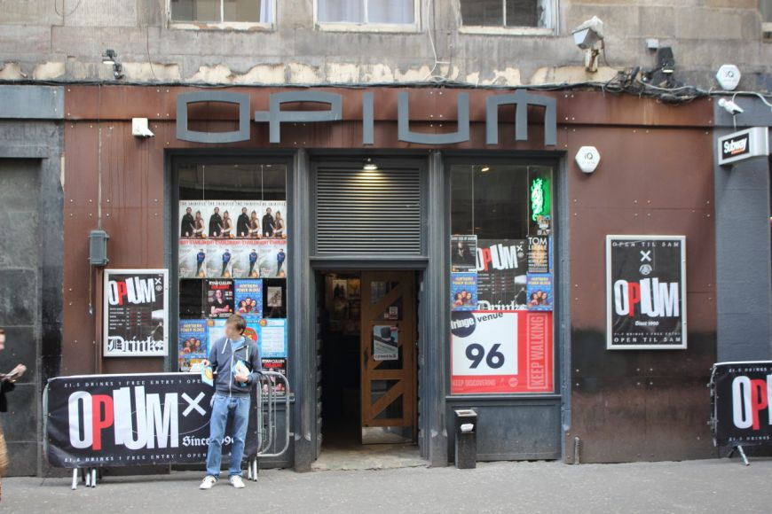 Opium front of house at Fringe