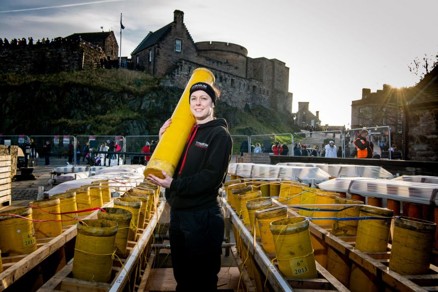 Pyrotechnician at Edinburgh Castle for Hogmanay